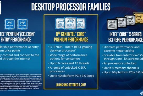 The 8th Gen Intel Core Desktop CPU Tech Report