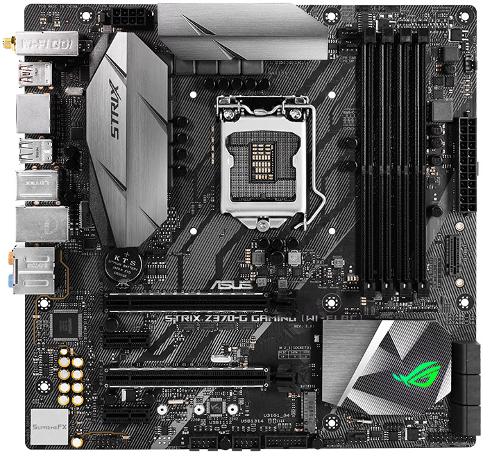 The ASUS ROG Strix Z370-G Gaming motherboard