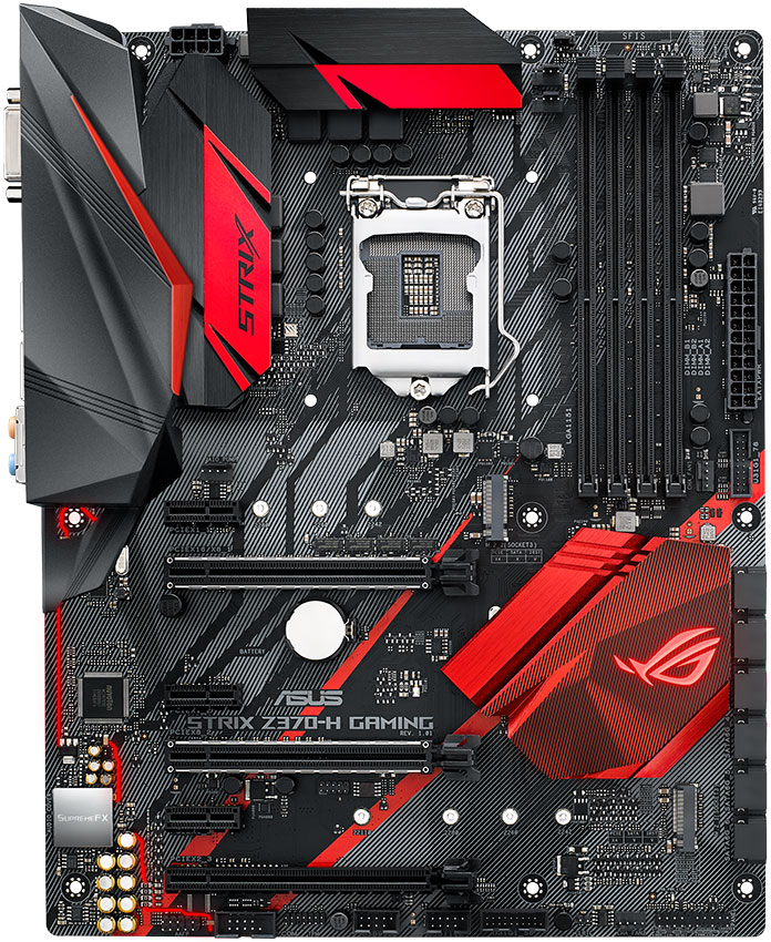 The ASUS ROG Strix Z370-H Gaming motherboard