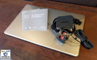 The ASUS VivoBook S15 (S510U) Laptop box contents