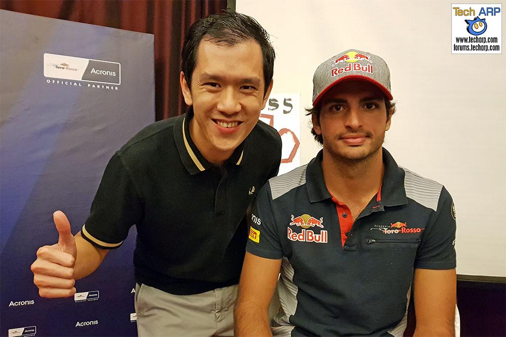 An Evening With Scuderia Toro Rosso & Acronis - Carlos Sainz & Chai
