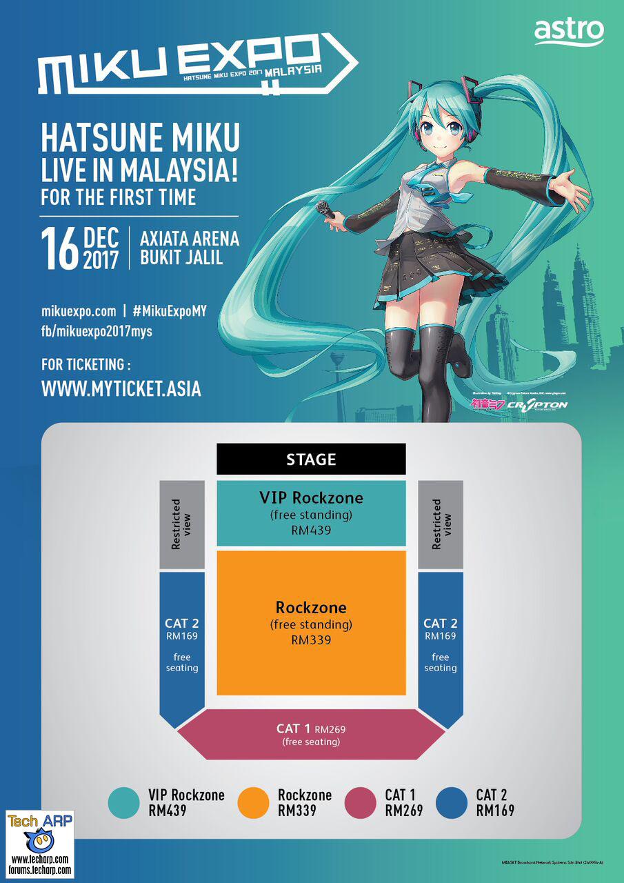 The Hatsune Miku Expo 2017 Ticket Prices