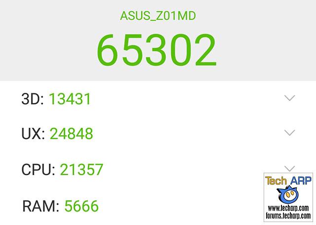 The ASUS ZenFone 4 Selfie Pro (ZD552KL) AnTuTu results