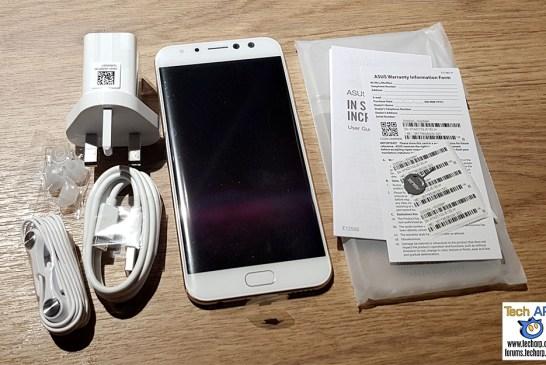 The ASUS ZenFone 4 Selfie Pro box contents