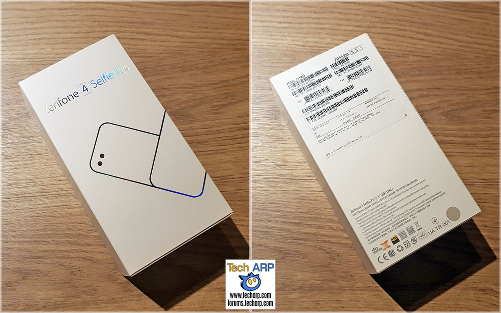 The ASUS ZenFone 4 Selfie Pro box