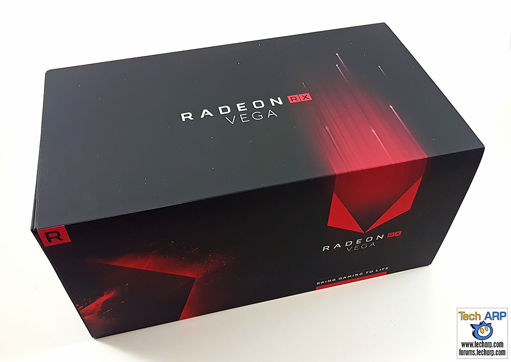 The AMD Radeon RX Vega 64 box