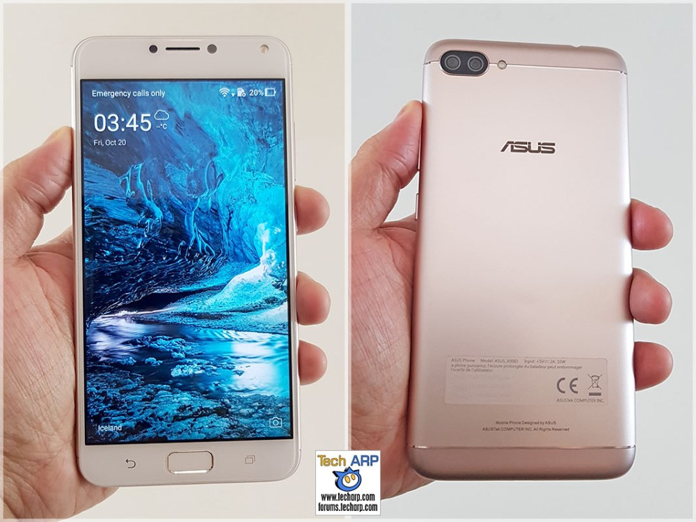 ASUS ZenFone 4 Max Pro in hand