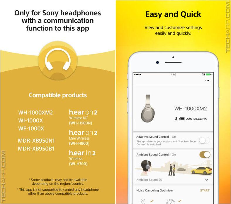 Sony Headphones Connect appSony Headphones Connect app