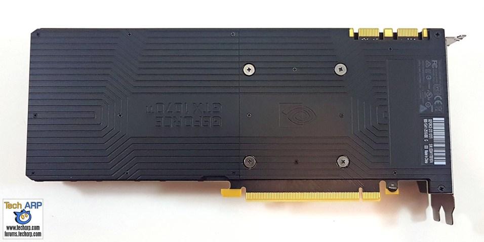 NVIDIA GeForce GTX 1070 Ti back
