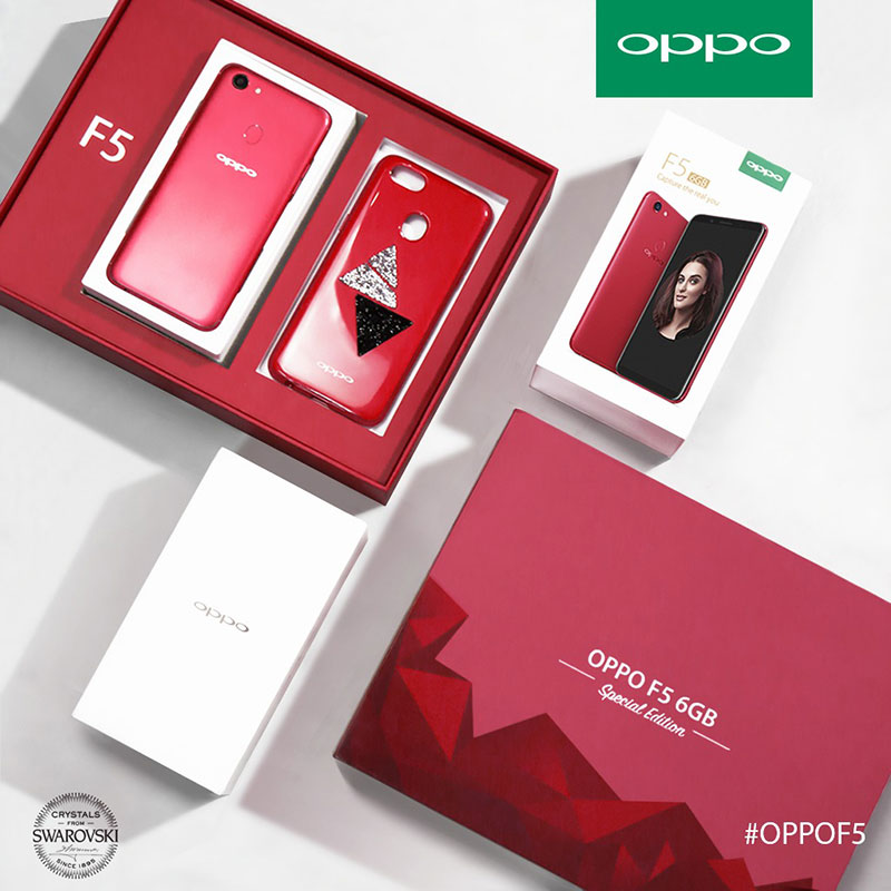 The OPPO F5 6GB Black & Red Editions Revealed!