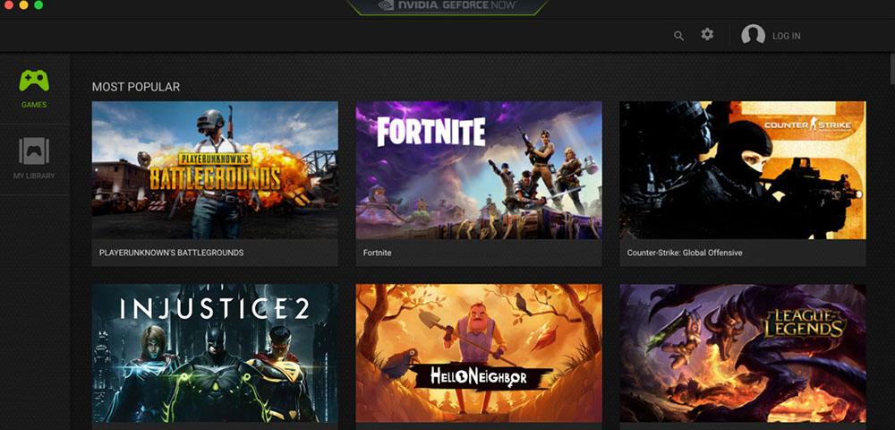 The NVIDIA GeForce NOW screenshot