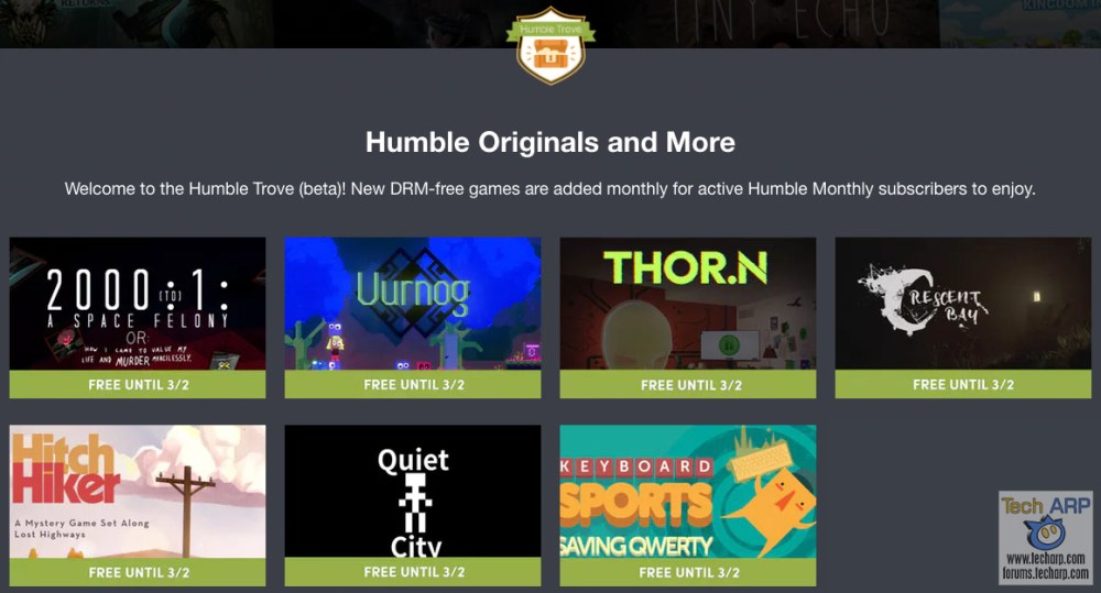 These 7 Games From The Humble Bundle Trove Are FREE!