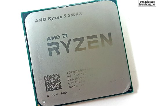 AMD Ryzen 5 2600X CPU top