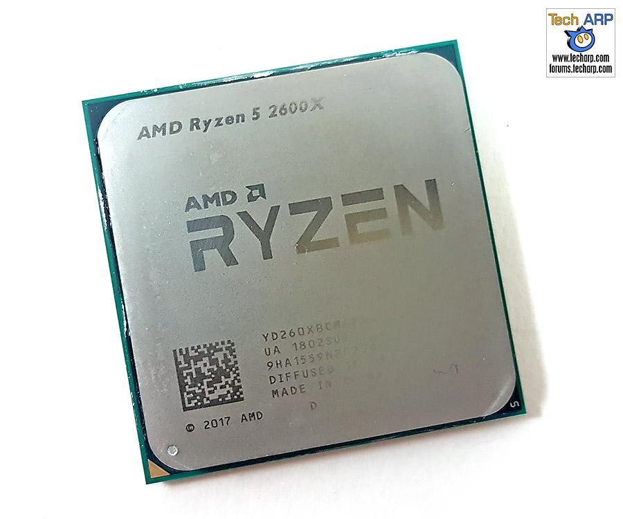 AMD Ryzen 5 2600X CPU top