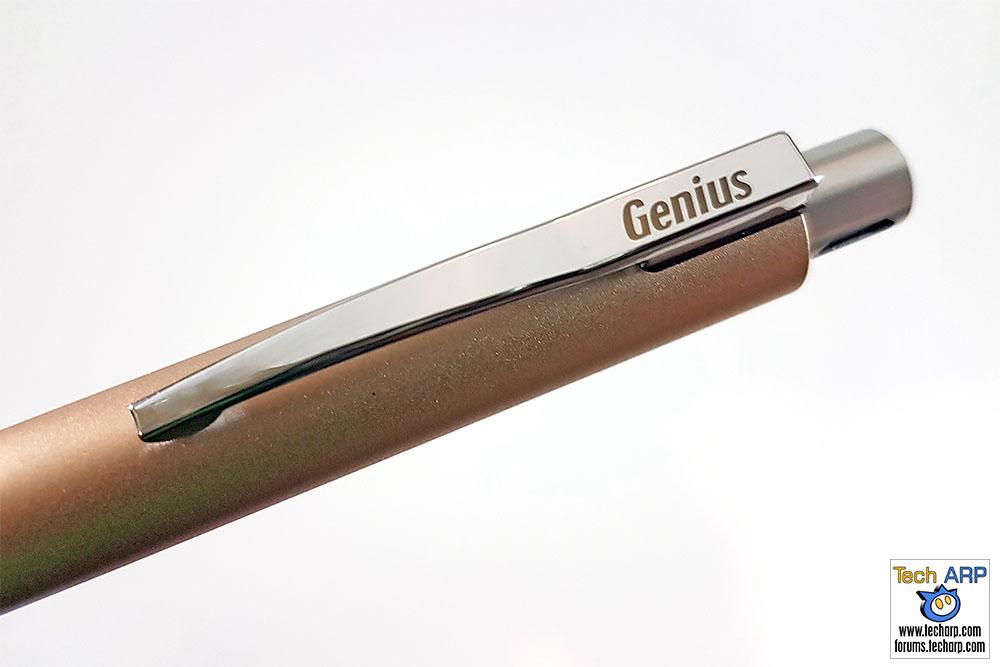 Genius Pen clip and push button