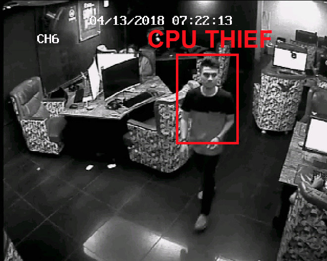 Watch Thieves Steal Computer Parts From An Internet Cafe!