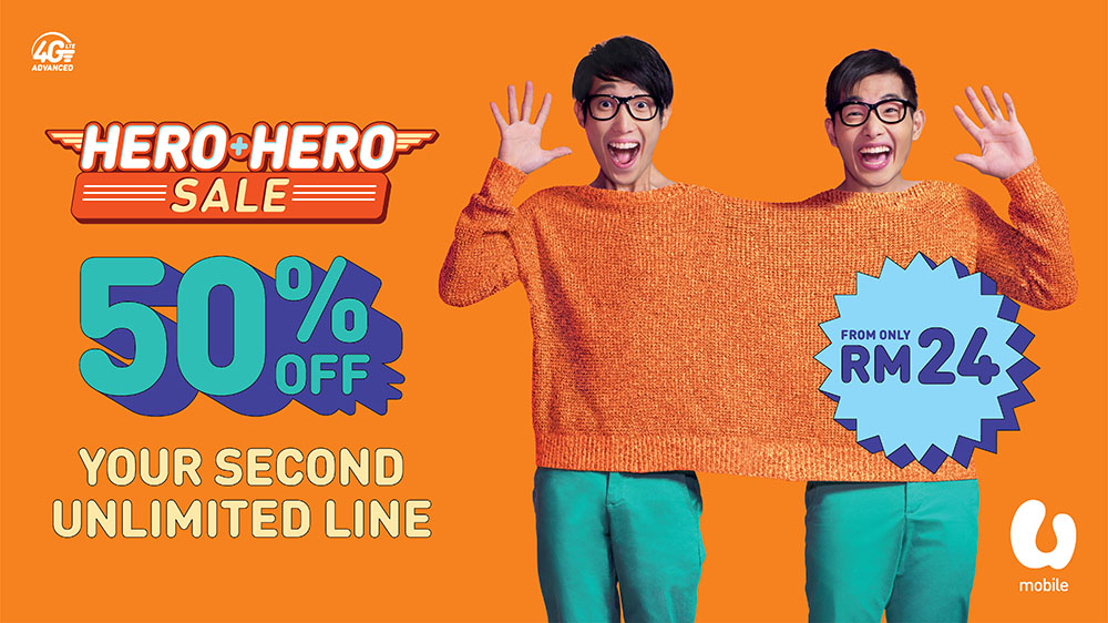 U Mobile HERO+HERO Promotion Revealed!