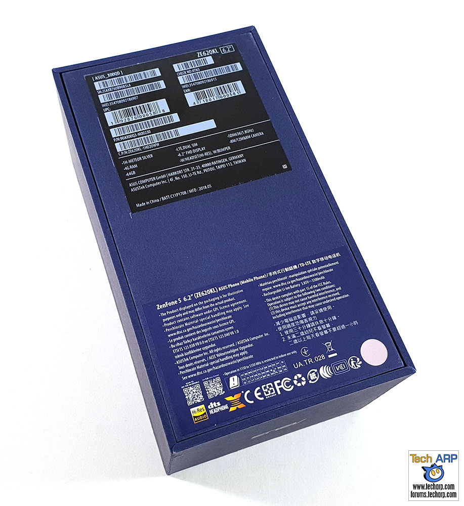 ASUS ZenFone 5 ZE620KL box