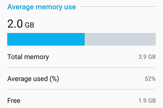 ASUS ZenFone 5 ZE620KL available memory