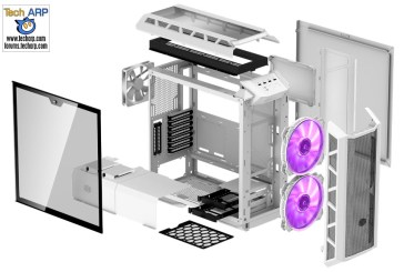 MasterCase H500P Mesh White PC Case Revealed!