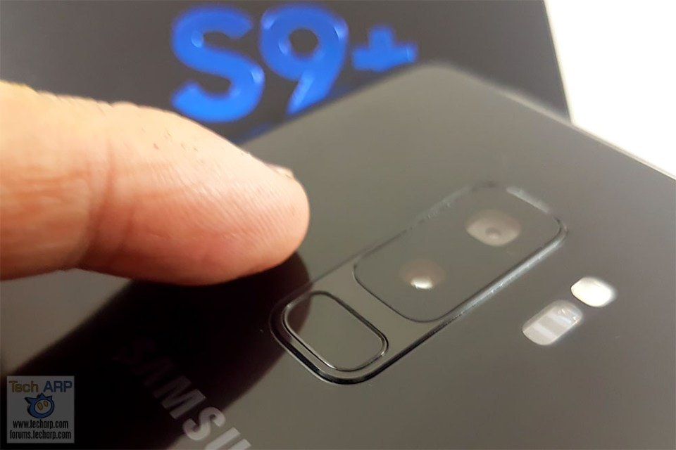 Samsung Galaxy S9 Plus fingerprint sensor