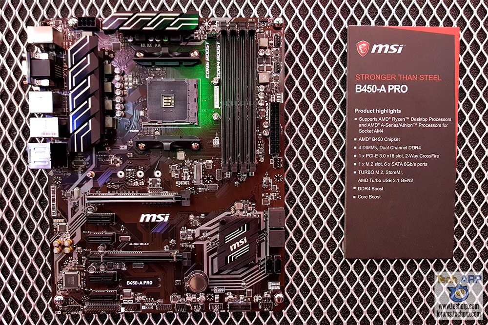 MSI B450-A Pro motherboard