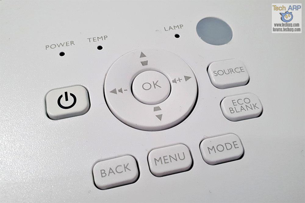 BenQ TK800 controls