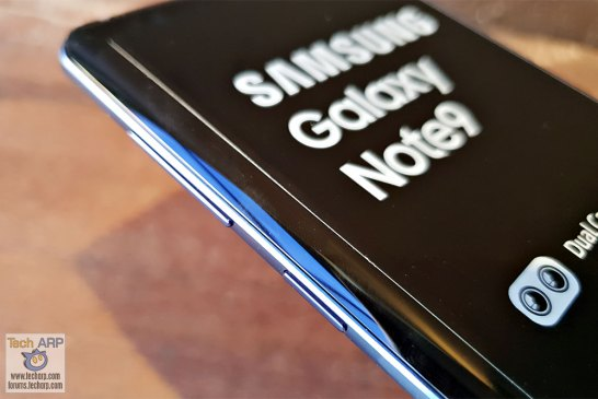 Samsung Galaxy Note9 left buttons