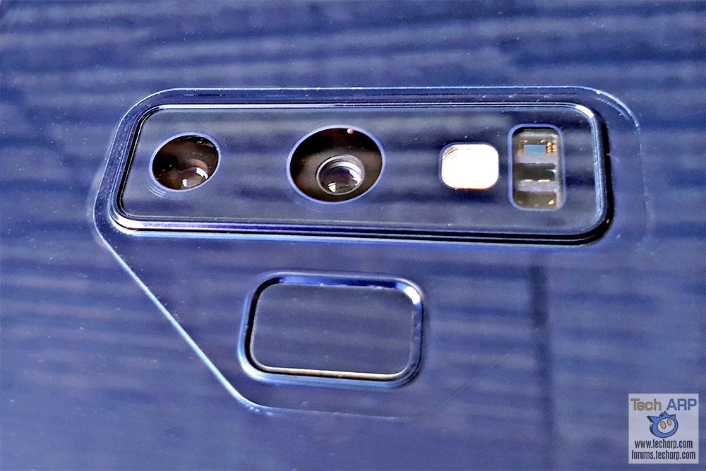 Samsung Galaxy Note9 rear cameras
