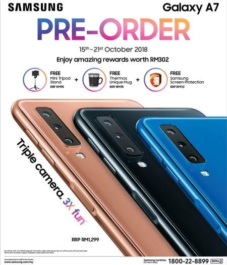 Samsung Galaxy A7 2018 pre-order