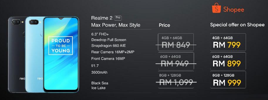 Realme 2 Pro Malaysia price