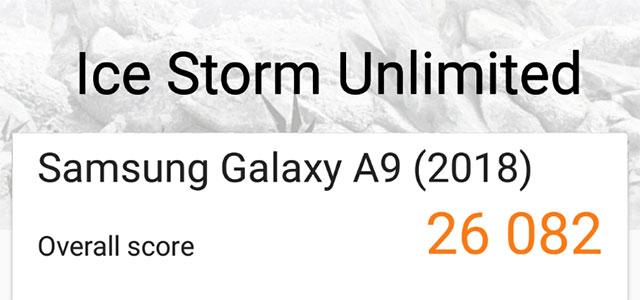 Samsung Galaxy A9 2018 3DMark results