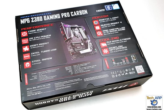 MSI MPG Z390 Gaming Pro Carbon box