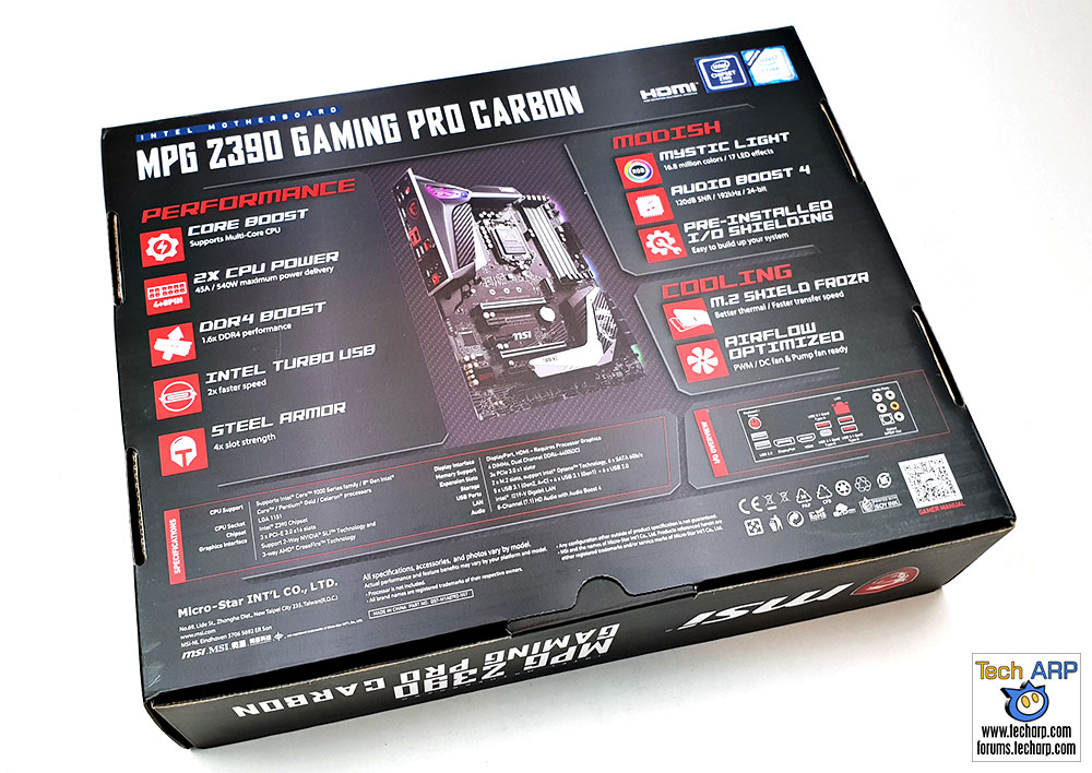 MSI MPG Z390 Gaming Pro Carbon box