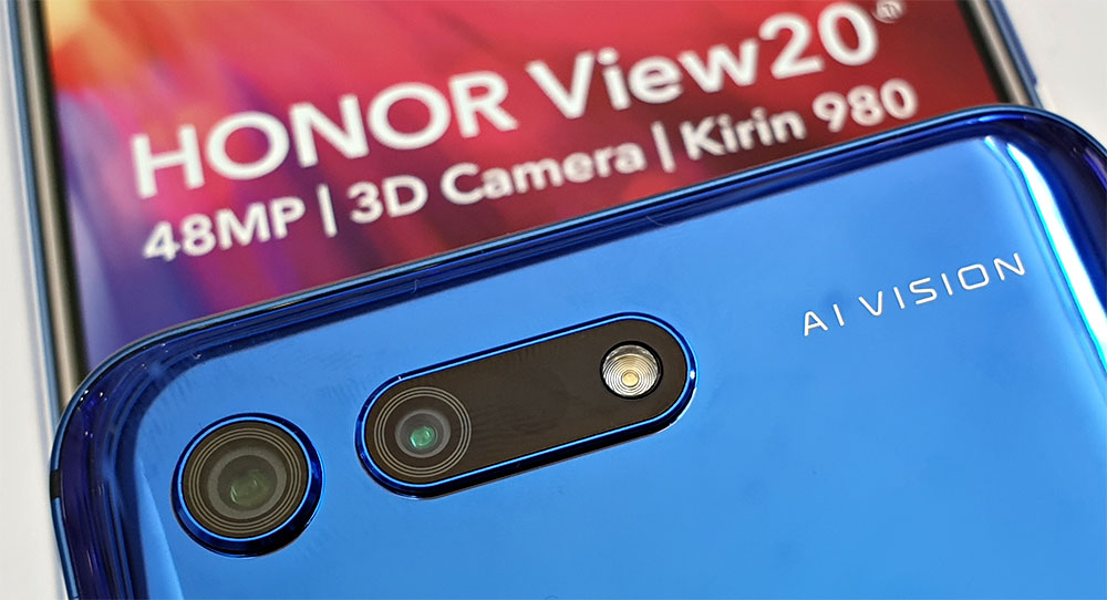 HONOR View20 rear cameras