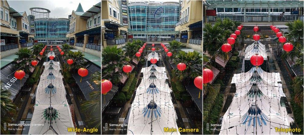 Samsung Galaxy A9 2018 camera comparison