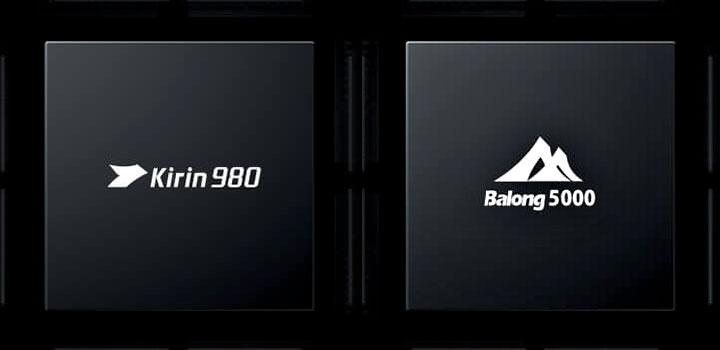 Kirin 980 and Balong 5000