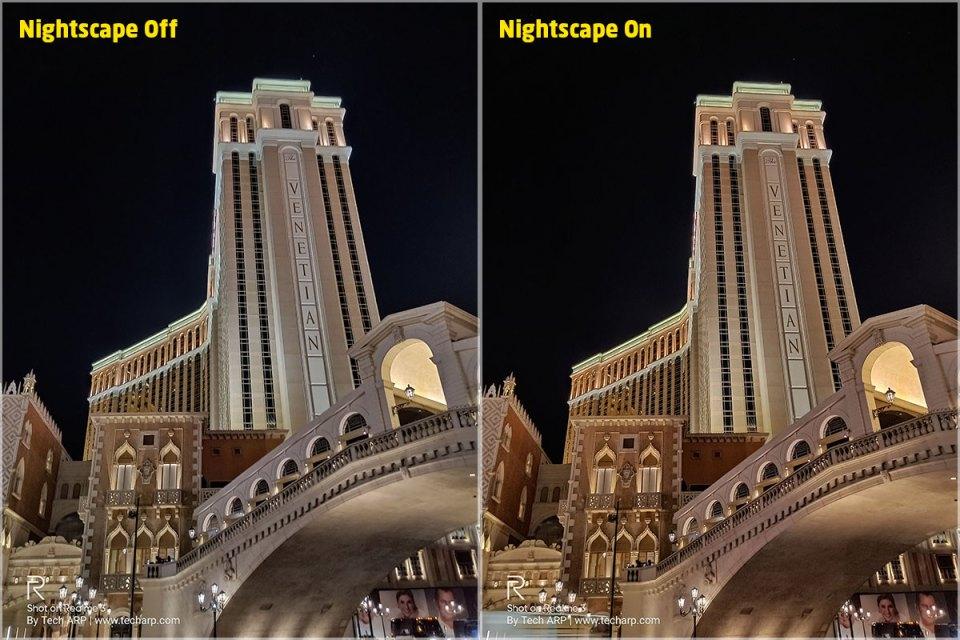 Realme 3 Nightscape Las Vegas comparison