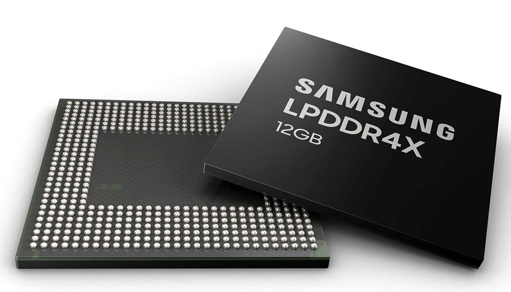 Samsung LPDDR4X 12GB chip