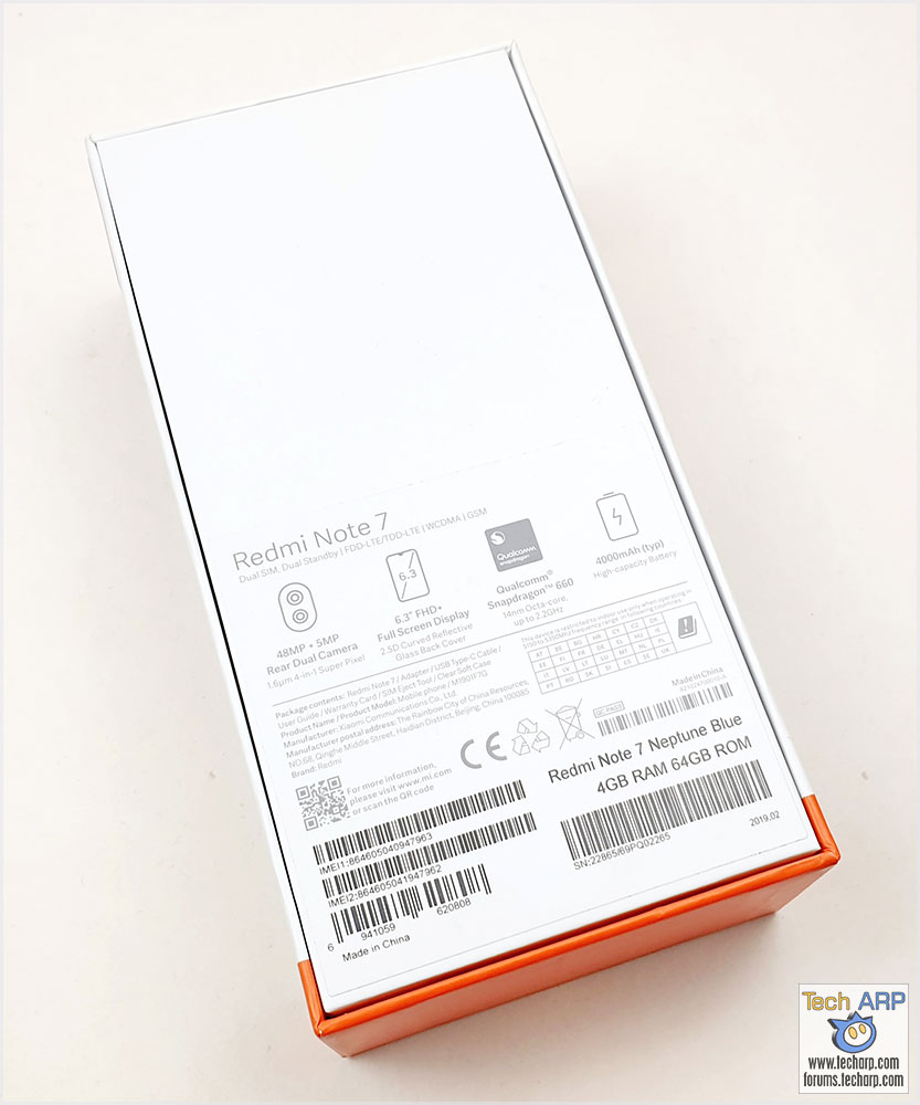 Xiaomi Redmi Note 7 box
