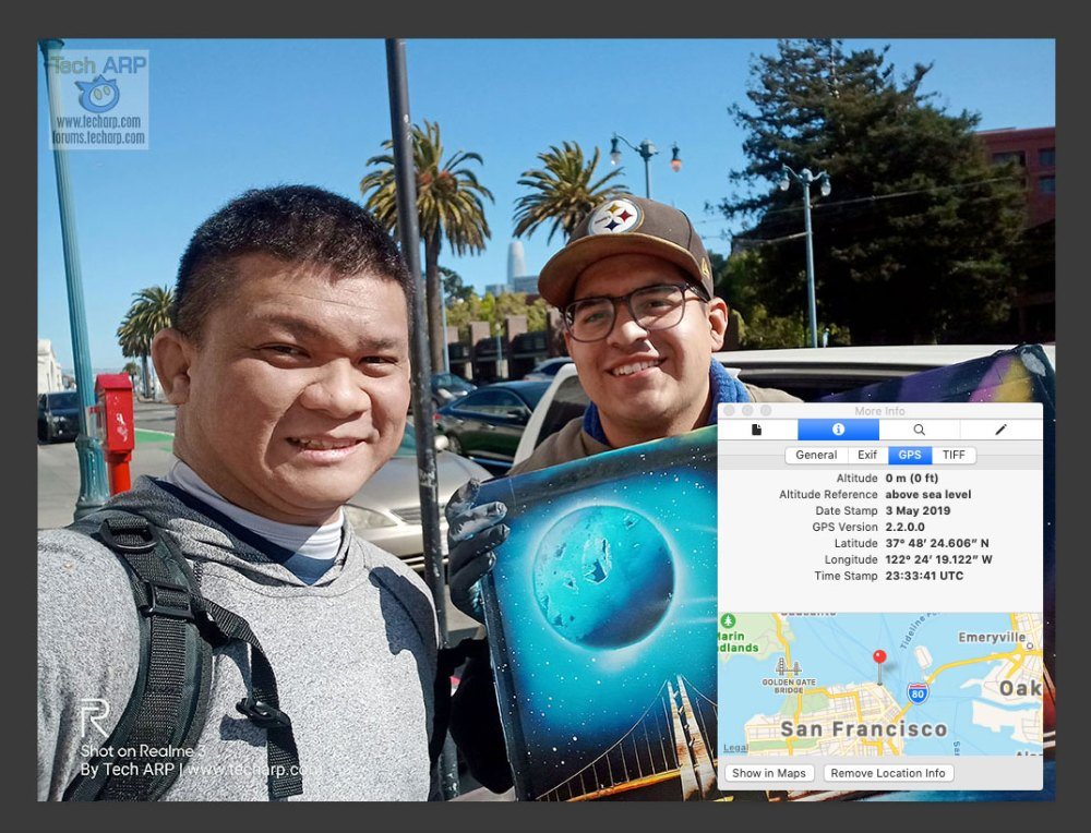 Realme 3 San Francisco selfies 01 GPS