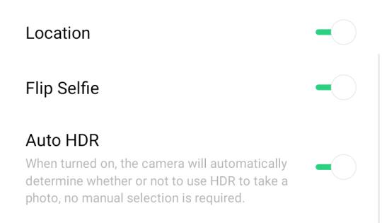 Realme 3 front camera settings 01