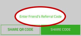 Razer Pay manual referral code