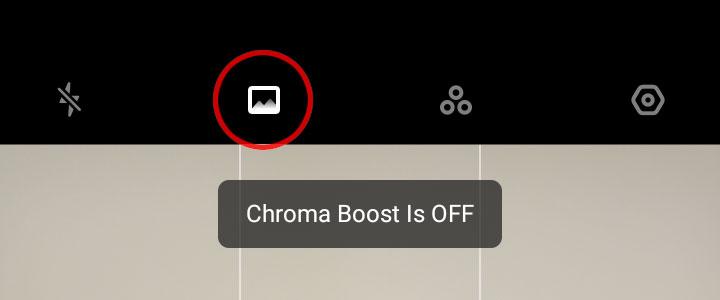 Realme Chroma Boost off
