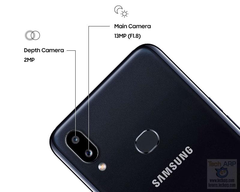 Samsung Galaxy A10s main cameras