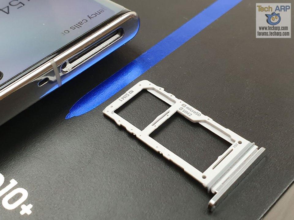 Samsung Galaxy Note 10 Plus hybrid SIM tray
