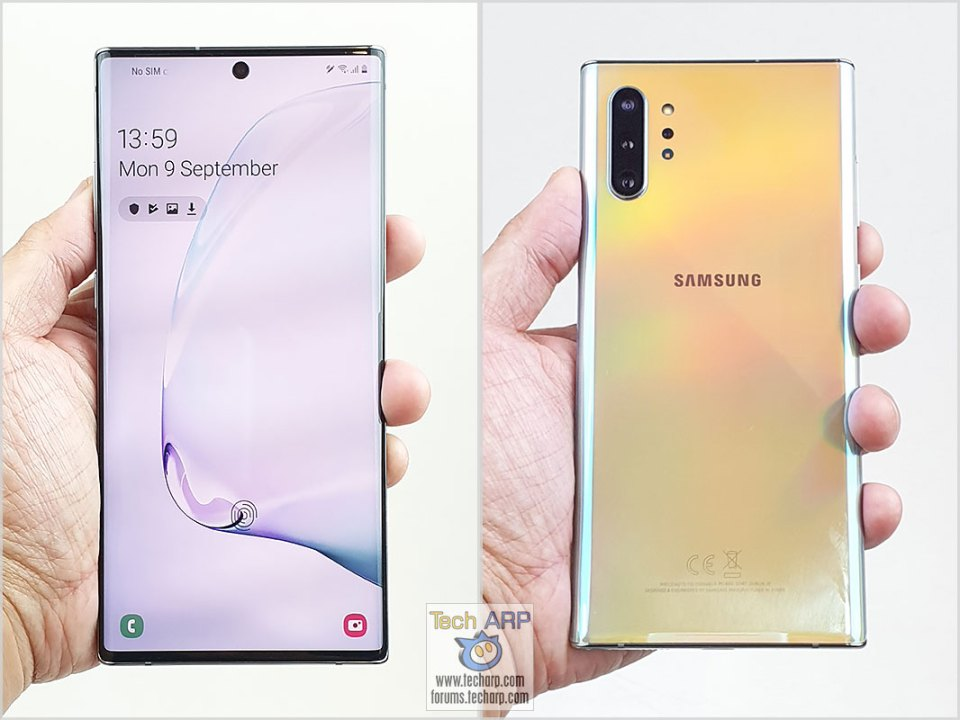 Samsung Galaxy Note 10 Plus in hand