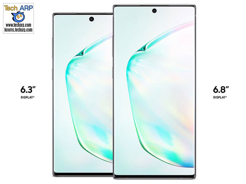 Samsung Galaxy Note 10 leaked sizes