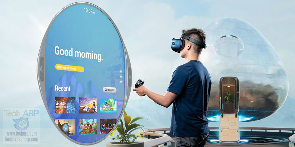 HTC VIVE Cosmos in use