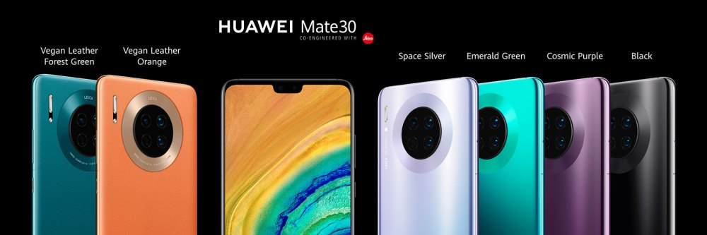 HUAWEI Mate 30 colour options